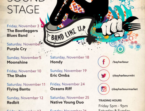 The November Gig Guide at the Bay Harbour Market
