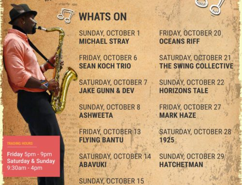 The October Gig Guide at the Bay Harbour Market