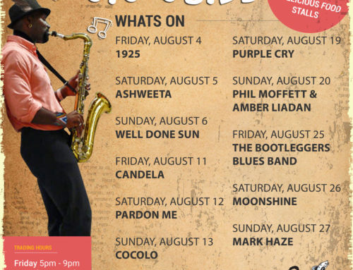 The August Gig Guide At The Bay Harbour Market