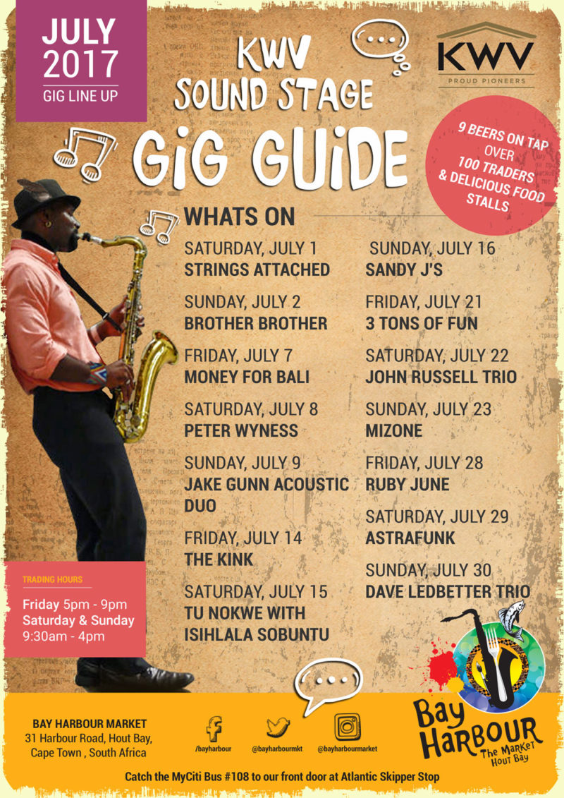The June Gig Guide At The Bay Harbour Market